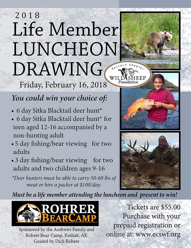 2018 Lifetime Member Luncheon Drawing