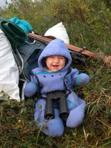 6 month old baby in wilderness