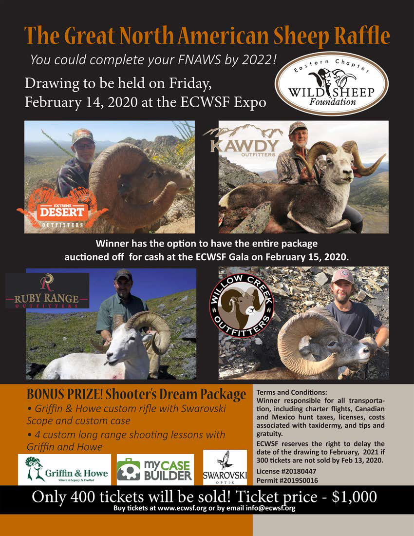 The Great North American Sheep Raffle Flyer